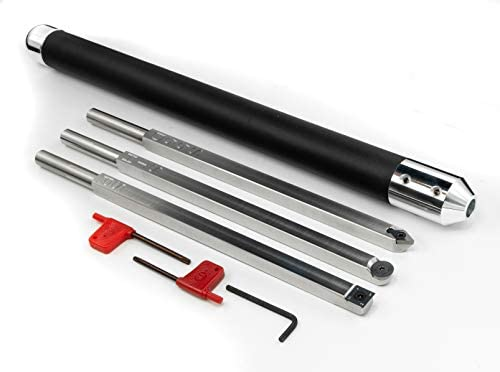 Simple Woodturning Tools Carbide Wood Lathe Tools Hollower, Rougher, Detailer and Comfortable Foam Grip Handle, USA Made, Stainless Steel