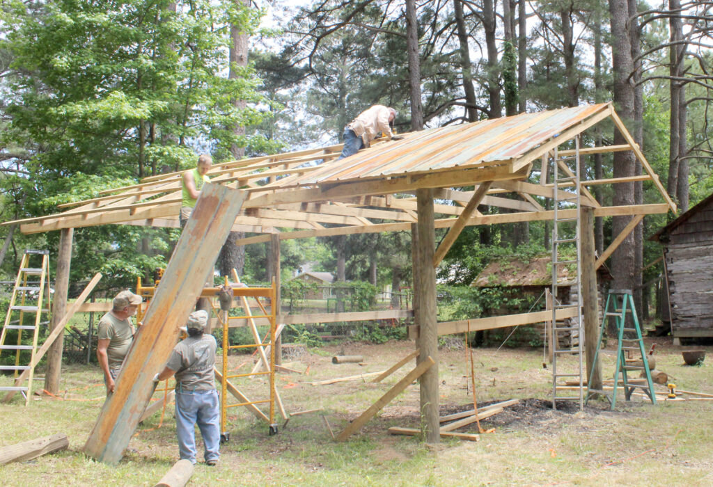 Blacksmith Shed Going Up At Pioneer Village – Cleveland County Herald