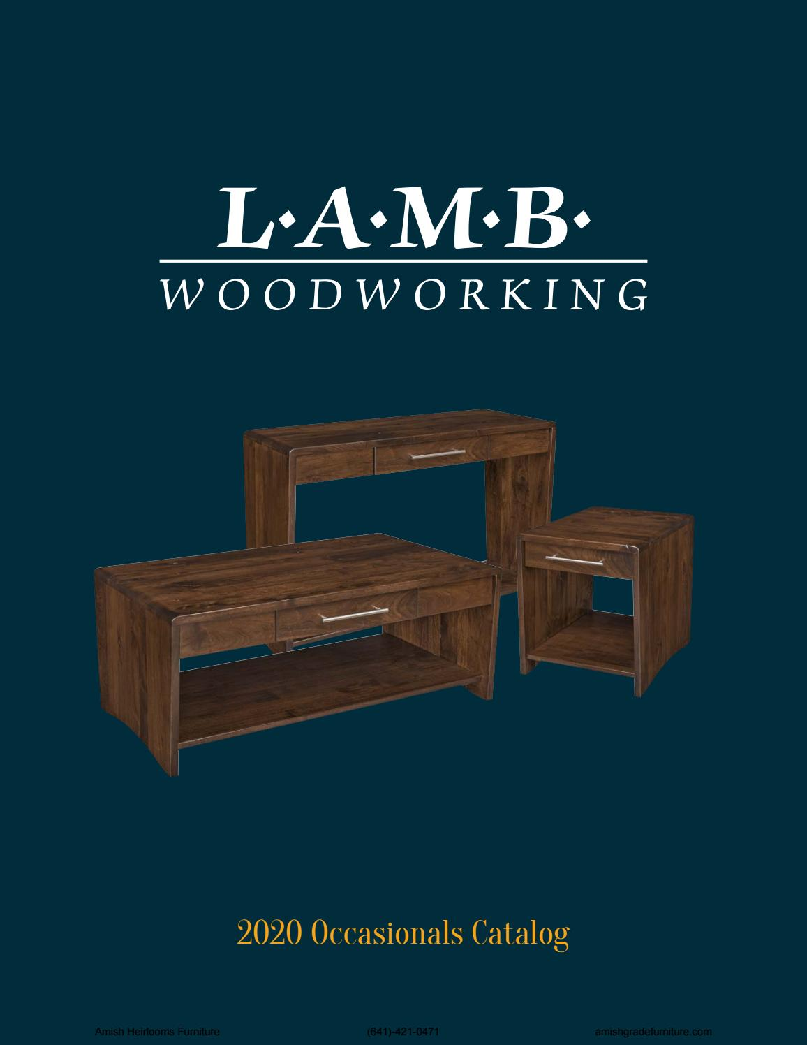 2020 LAMB Woodworking by Amish Heirlooms Furniture