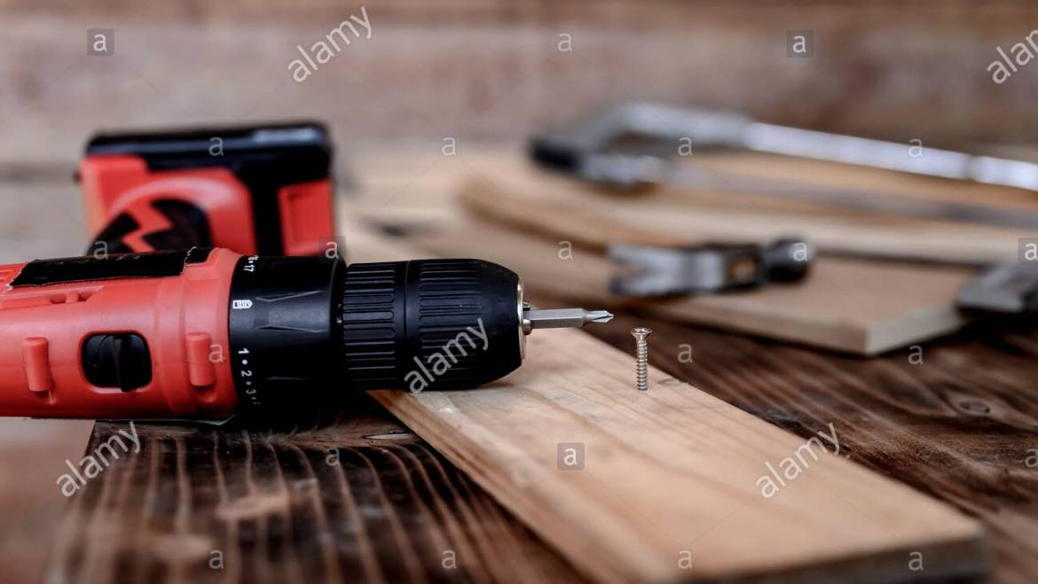 Vintage woodworking equipment for DIY and work tools for carpenter and craftsmanship. Happy Labor day concept. Lock down and Self-quarantine at home Stock Photo: 356936399
