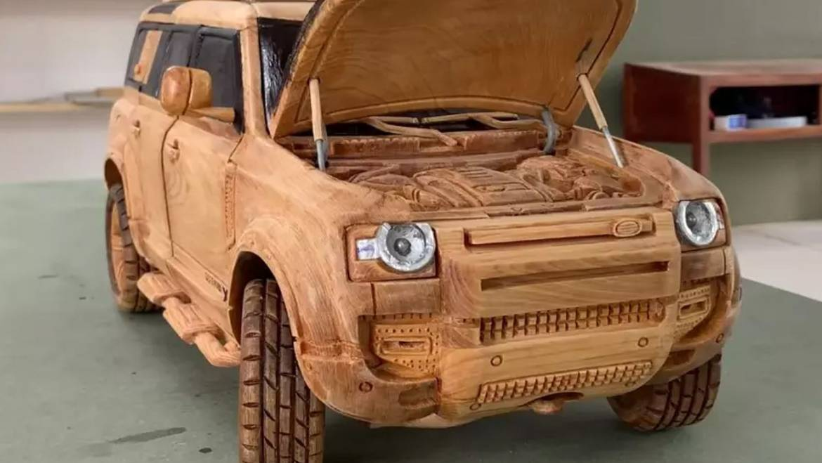 Watch A Blogger Make A Wooden Model Of The Land Rover Defender
